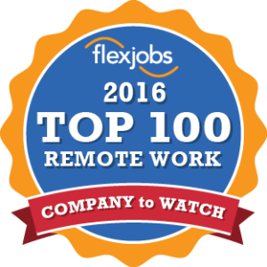 2016 Top 100 Remote Work Company to Watch
