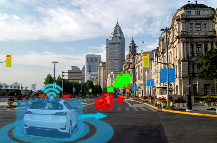 Autonomous car image annotation example